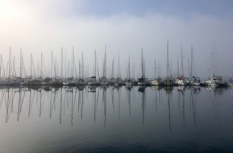 Misty morning at Hout Bay Harbour