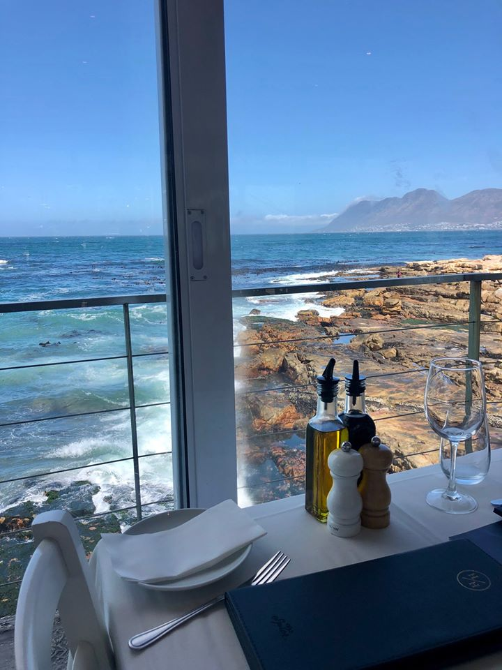 Fabulous lunch at Harbour House, Kalk Bay